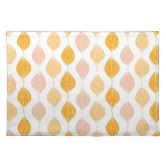 Abstract golden ogee pattern background placemat