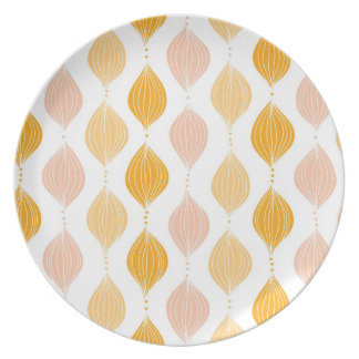 Abstract golden ogee pattern background plate