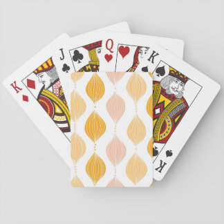 Abstract golden ogee pattern background playing cards