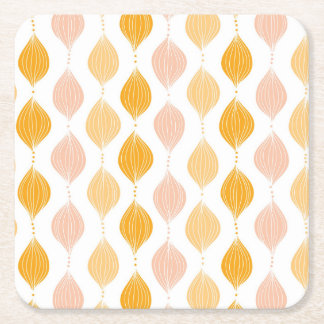 Abstract golden ogee pattern background square paper coaster