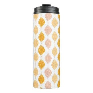 Abstract golden ogee pattern background thermal tumbler