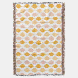 Abstract golden ogee pattern background throw blanket