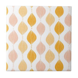 Abstract golden ogee pattern background tile