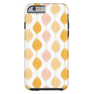 Abstract golden ogee pattern background tough iPhone 6 case