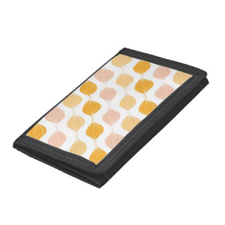 Abstract golden ogee pattern background trifold wallets