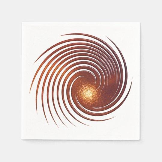 Abstract golden spiral. disposable serviette