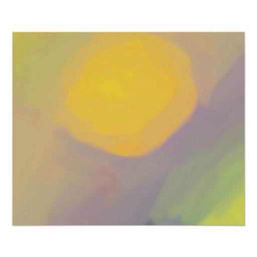 Abstract Golden Sun Poster (24x20) Photo Print