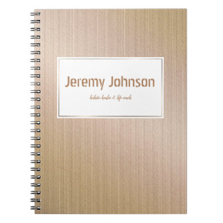 Abstract golden surface texture notebook