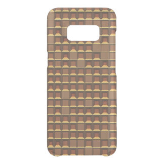 Abstract golden topless pyramid 3D-pattern Uncommon Samsung Galaxy S8 Case