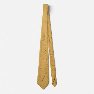 Abstract Golden Yellow Textured Necktie