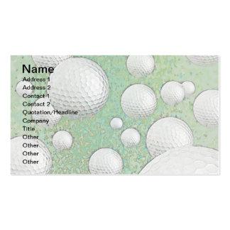 ABSTRACT GOLF BALLS BUSINESS CARD TEMPLATES