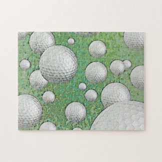 ABSTRACT GOLF BALLS JIGSAW PUZZLE