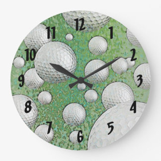 ABSTRACT GOLF BALLS WALL CLOCKS
