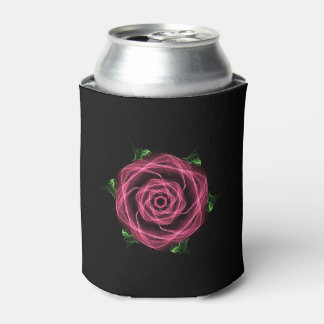 Abstract Goth Rose Fractal Can Cooler