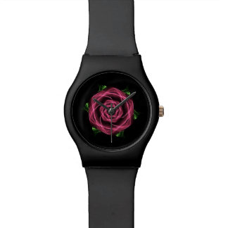 Abstract Goth Rose Fractal Watch