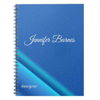 Abstract gradient blue texture notebooks