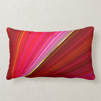 Abstract gradient geometric red texture. lumbar cushion