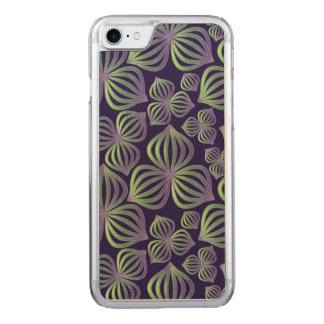 Abstract gradient purple green floral pattern carved iPhone 8/7 case