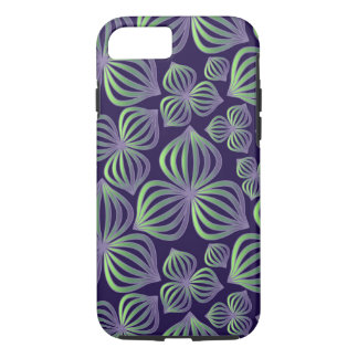 Abstract gradient purple green floral pattern iPhone 7 case