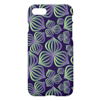Abstract gradient purple green floral pattern. iPhone 7 case