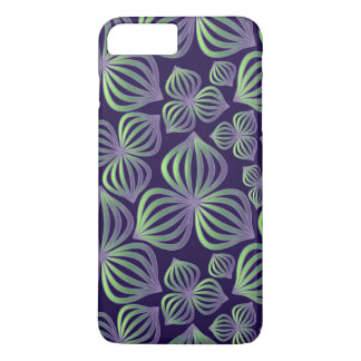 Abstract gradient purple green floral pattern iPhone 7 plus case