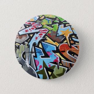 Abstract graffiti 6 cm round badge