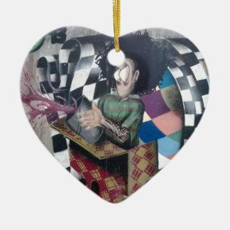 Abstract Graffiti Artwork Ceramic Heart Decoration