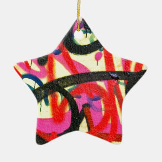 abstract graffiti background ceramic star decoration