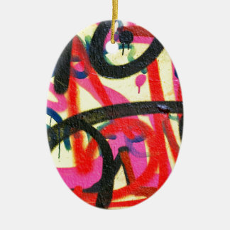 abstract graffiti background christmas ornament