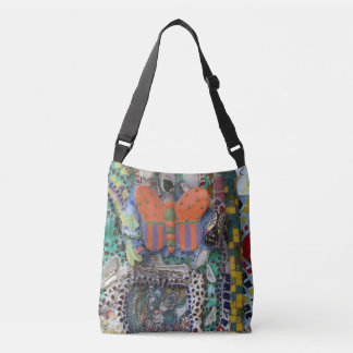 Abstract graffiti butterfly crossbody bag