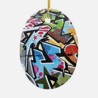 Abstract graffiti christmas ornament