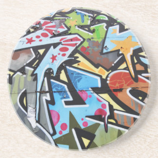 Abstract graffiti coaster