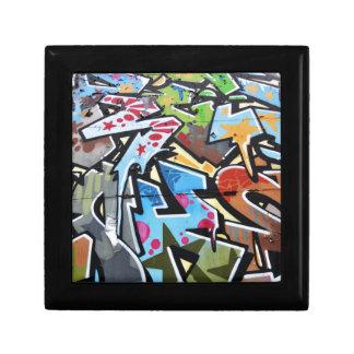 Abstract graffiti gift box