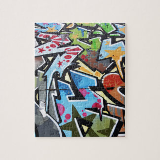Abstract graffiti jigsaw puzzle