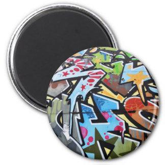 Abstract graffiti magnet
