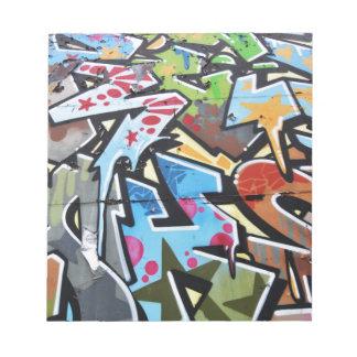 Abstract graffiti notepad
