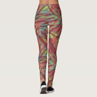 Abstract Graffiti pattern Brush Painting Leggings