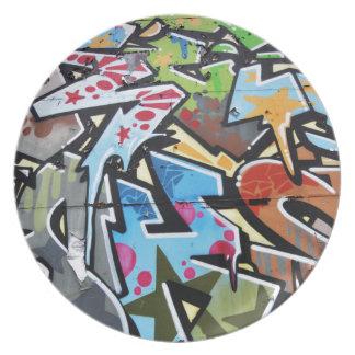 Abstract graffiti plate
