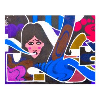 Abstract graffiti postcard