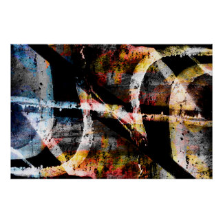 Abstract graffiti poster