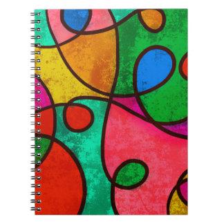 Abstract Graffiti Rainbow Swirls Note Book