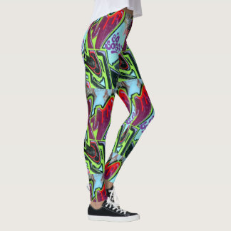 "abstract graffiti ""so soggy"" leggings"