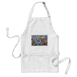 Abstract graffiti standard apron