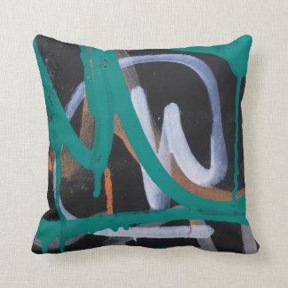 Abstract Graffiti Street Art Accent Cushion