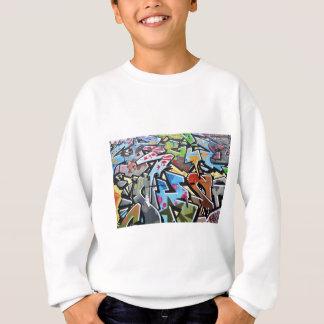Abstract graffiti sweatshirt