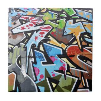 Abstract graffiti tile