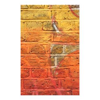 Abstract graffiti wall customized stationery