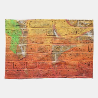 Abstract graffiti wall tea towel
