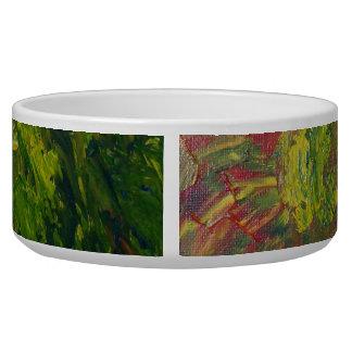 Abstract Grapes Pet Food Bowls