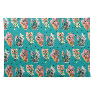 Abstract Graphic Cactus Succulent Pattern Placemat
